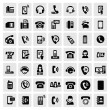 Phone icons — Vector de stock #17603229