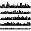 Black city — Stock Vector #17648563
