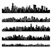 Black city — Stock Vector