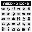 Wedding icons — Vector de stock