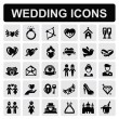 Wedding icons — Stockvektor