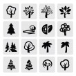 Stock vektor: Trees icon