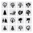Stock Vector: Trees icon
