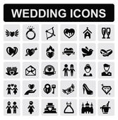 Wedding icons — Stok Vektör
