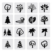 Bomen pictogram — Stockvector