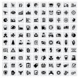 100 web icons - Stock Vector