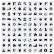 100 web icons - Vettoriali Stock