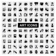 Art Icons set — Stok Vektör