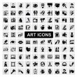 Art Icons set — Vettoriali Stock