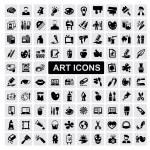conjunto de ícones de arte — Vetorial Stock