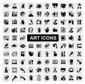 Kunst icons set — Stockvector