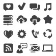 Stock Vector: Web and communication icons