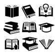 Book icons set — Stock Vector #18377025