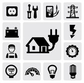 Electricity icons — Vettoriale Stock