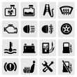 Stock Vector: Dashboard and auto icons