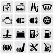 Dashboard and auto icons - Stock Vector