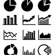 Stock Vector: Charts and graphs
