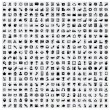 Vector black 400 universal web icons set on gray