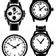 Stock Vector: Watch and clock