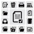 Stock Vector: Document icons