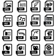 Royalty-Free Stock Vector Image: File extension icons