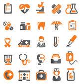 Iconos médicos. — Vector de stock