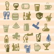 Beverages icons — Stock Vector