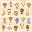 Stok Vektör: Bulbs icons