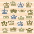 Crown icons — Stock Vector #18918153