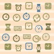 Clocks icons — Stockvektor #18918331