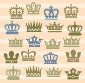 Crown icons — Stock Vector