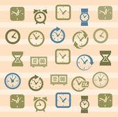 时钟的图标 — 图库矢量图片