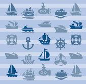 łodzi i statków — Wektor stockowy