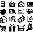 Shopping icons — Stock Vector #18935231
