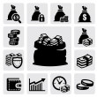 Money icons — Stock Vector #19075343