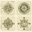 Vintage compasses - Stock Vector