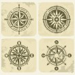 Stock Vector: Vintage compasses