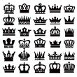Black crowns - Stock Vector