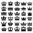 Black crowns - Image vectorielle