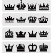 Black crowns — Stock Vector