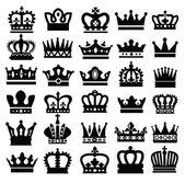 Black crowns — Stock Vector