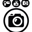 Camera icons - Vettoriali Stock