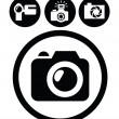 Camera icons - Image vectorielle