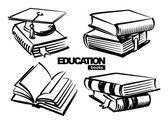 Illustration of books — Stock vektor