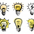Light bulbs icon — Stock Vector