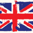 UK paint flag - Stock Vector