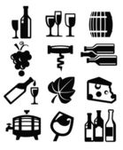 Wine icon — Stock Vector