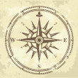 Vintage compass — Vector de stock