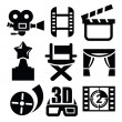 Stock Vector: Movie icon