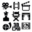 Movie icon - Stock Vector